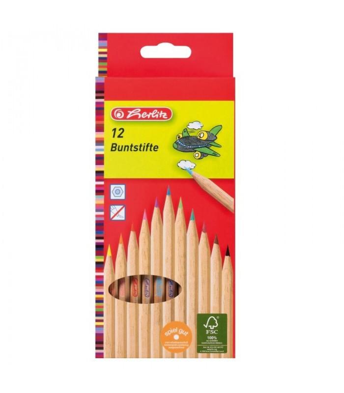Creioane color natur 1/1  HERLITZ