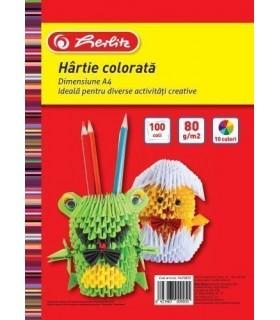 Hartie color A4 80 grame, diverse culori, 100 / top HERLITZ