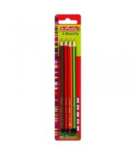 Creion grafit, mina B, 2B, H, HB 4 bucati/set HERLITZ