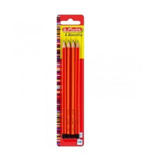 Creioane grafit HB 4 bucati/set HERLITZ