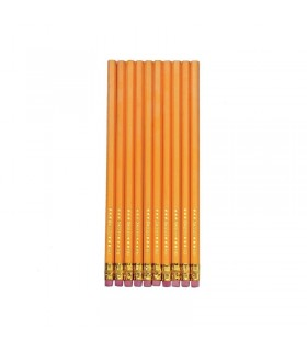 Creion grafit HB cu radiera 10 bucati/set HERLITZ