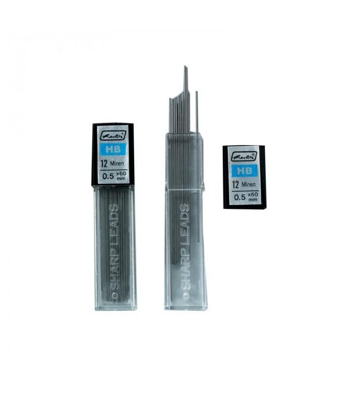 Mina creion mecanic duritate HB, varf 0,5 mm, HERLITZ
