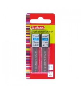 Mina creion 0.7 mm HB set 2X12 HERLITZ