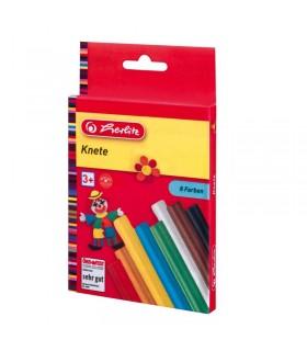 Plastilina set 8 culori in cutie de carton HERLITZ