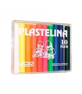 Plastilina set 10 culori fluorescente HERLITZ