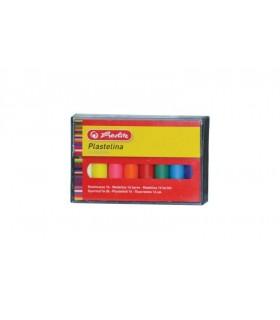 Plastilina set 16 culori economic cutie plastic HERLITZ