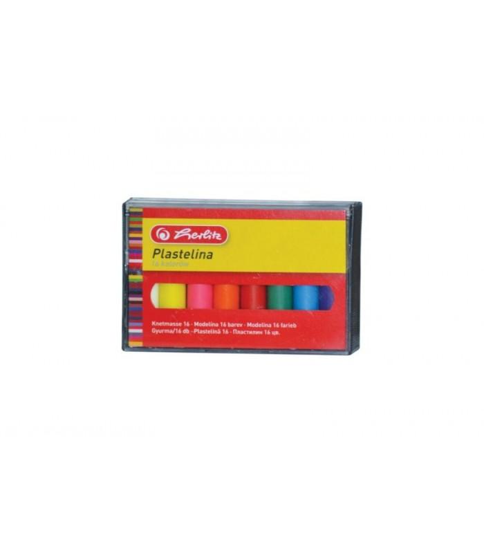 Plastilină set 16 culori economic cutie plastic HERLITZ