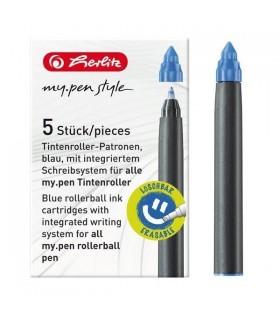 Rezerva roller My.Pen cerneala albastra 5/set HERLITZ