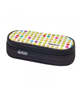 Necessaire oval 21,5x9x6 cm motiv SmileyWorld Rainbow Faces HERLITZ