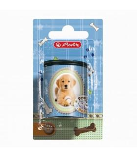 Ascuţitoare plastic butoiaș dublă Pretty Pets câine/blister