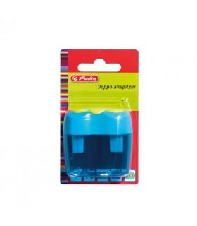 Ascutitoare plastic dubla bicolora/blister HERLITZ