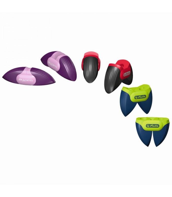 Ascutitoare plastic dubla My.Pen 3 combinatii de culori HERLITZ