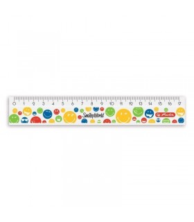 Rigla plastic 17 cm Smiley World Rainbow HERLITZ