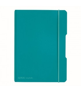 Caiet A5, 40 file, My.Book Flex, coperta turcoaz HERLITZ