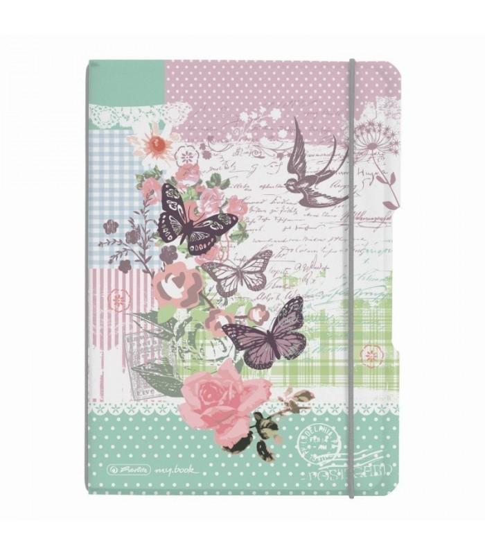 Caiet A5 40 file, My.Book Flex, motiv LadyLike Fluture HERLITZ