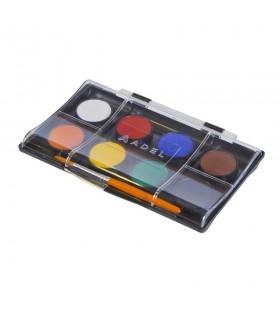 Acuarele 8 culori 24 mm cu pensula ADEL