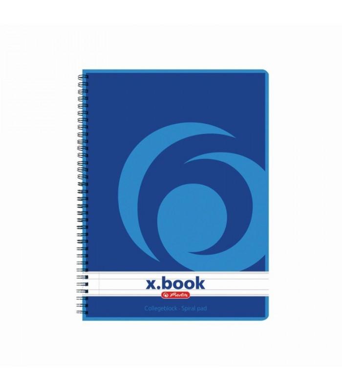 Caiet A5 cu spirala 80 file X.Book (College) HERLITZ