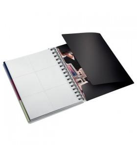 Caiet A5, 80 file, cu spira, negru-violet Executive Be Mobile LEITZ