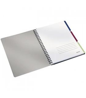 Caiet de birou A4, 80 file, cu spira, negru-violet Executive Get Organized LEITZ