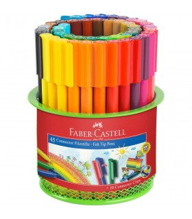 Carioca 45 culori in suport mesh connector FABER-CASTELL