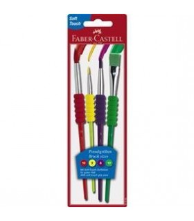 Pensula Soft Touch Set 4 FABER CASTELL