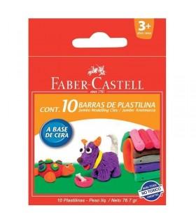 Plastilina 10 culori 90g FABER CASTELL