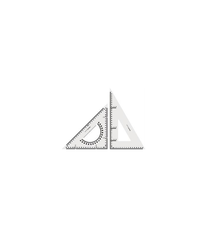 Set 2 echere 28 cm transparente DELI