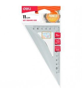 Echer 11cm 30/60 grade transparent DELI