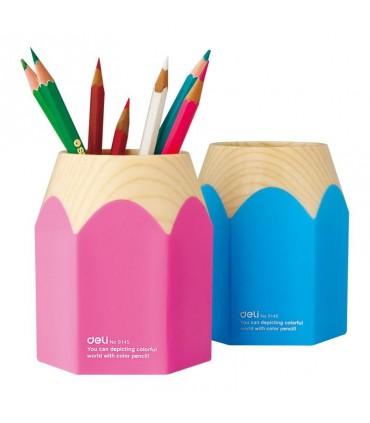 Suport instrumente de scris creion roz/bleu DELI