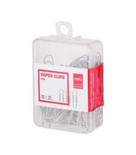 Agrafe birou metalice, 29 mm, 100 buc/cutie plastic DELI