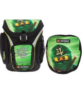 Ghiozdan scoala Explorer + sac sport NinjaGo Lloyd verde LEGO
