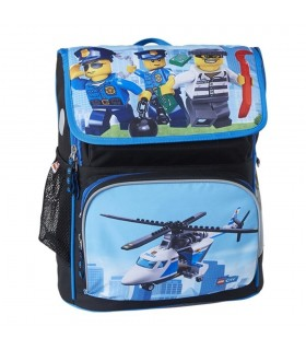 Ghiozdan scoala Recruiter City Police Chopper LEGO