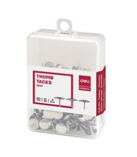 Pioneze inox, 100 buc/cutie plastic DELI