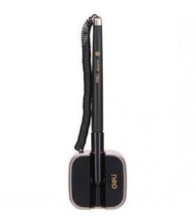 Pix cu snur si suport negru adeziv, culoare scriere albastru, varf 0.7 mm DELI