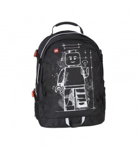 Rucsac Tech Teen, design negru Minifigure  LEGO Core Line