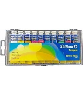 Acuarele tempera 10 culori 12 ml model 740/4 T10 PELIKAN