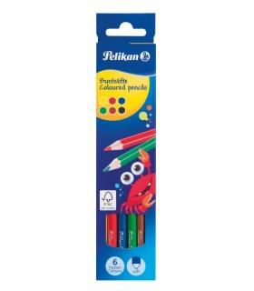 Creioane color lacuite hexagonale PELIKAN