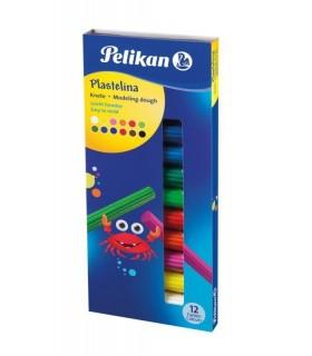 Plastilina set 12 culori standard PELIKAN