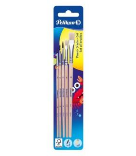 Set 5 Pensule Starter ( Seria 24 : 2,4,6 + Seria 613F : 6,10) PELIKAN