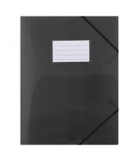 Mapa plastic cu elastic pe colturi, cu eticheta, 480 microni, DONAU  Culoare: Fumuriu