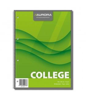 Caiet A4 cu spira 80 file College AURORA