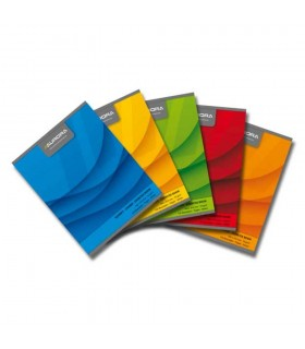 Caiet A5 60 file coperta carton color AURORA Office