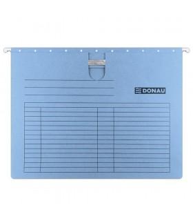 Dosar suspendabil cu sina, carton 230g/mp, bagheta metalica, DONAU Albastru