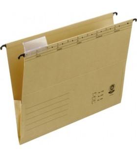 Dosar suspendabil cu burduf si eticheta, bagheta metalica, ELBA 3300 - kraft