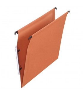 Dosar suspendabil cu eticheta laterala, carton 220g/mp, ELBA - kraft orange