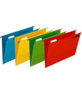 Dosar suspendabil cu eticheta, bagheta metalica, carton 230g/mp, Verticflex Elba 25 buc/cutie Culoare: Albastru