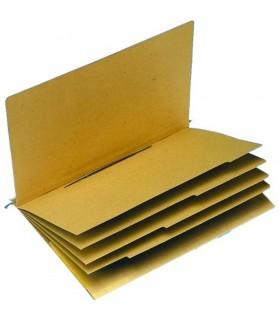 Dosar suspendabil cu sina, 4 separatoare, bagheta metalica, ELBA Verticflex - kraft