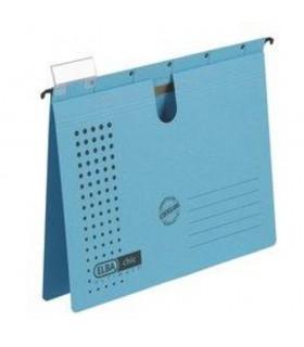 Dosar suspendabil cu sina, carton 230g/mp, bagheta metalica, ELBA Chic albastru