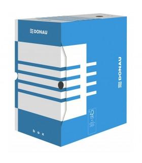 Cutie arhivare 200 mm, carton 390 gsm, DONAU - albastru/alb