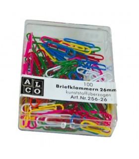 Agrafe birou color, 26 mm, 100 bucati/cutie, ALCO